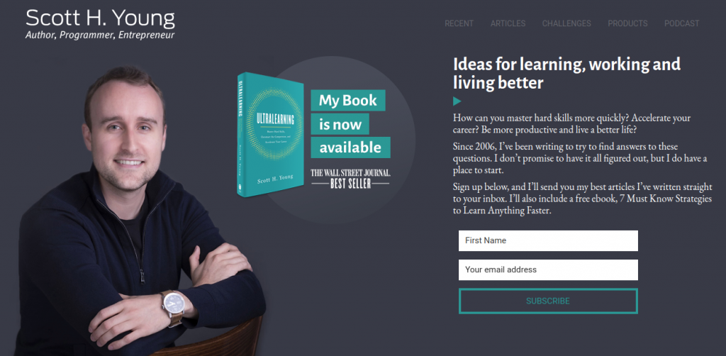 new author website design