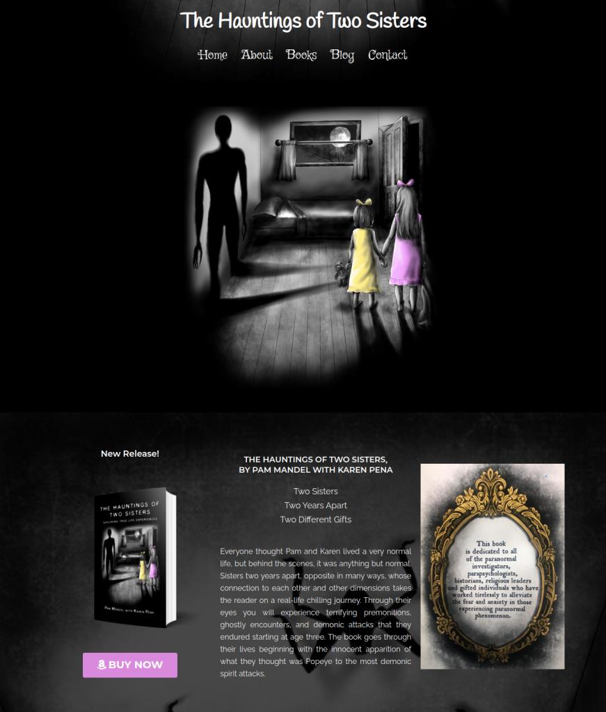 horror thriller author website design
