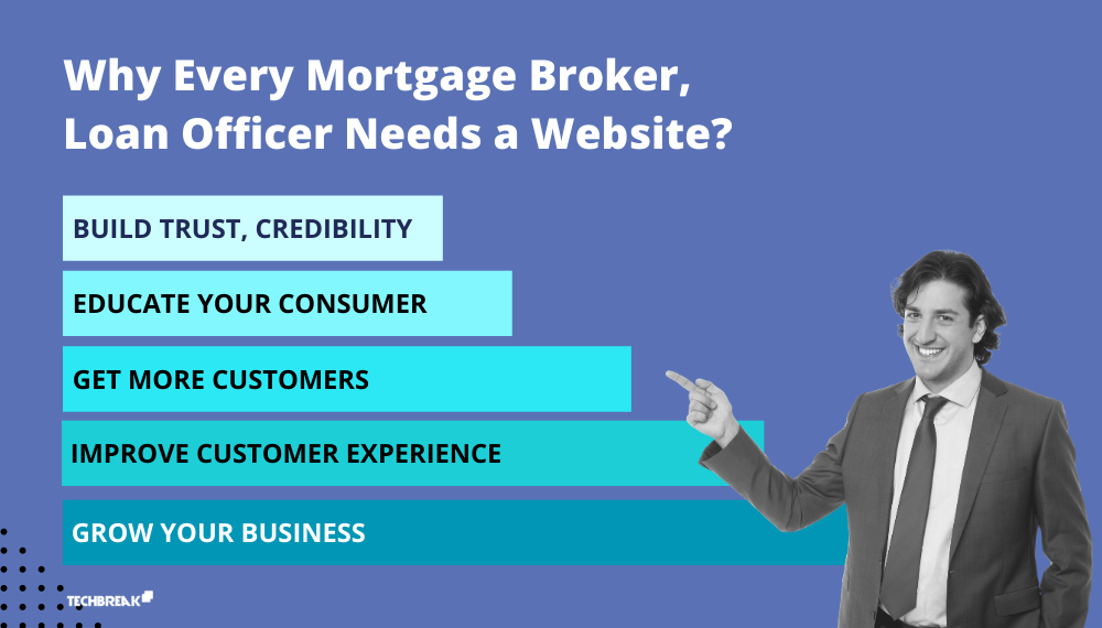 why MORTGAGE broker need WEBSITE DESIGN
